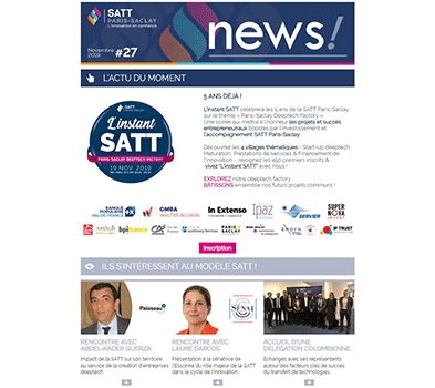 Newsletter SATT Paris-Saclay